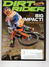 Dirt Rider Motocross Magazine Oct 2016 Baylor Bros Husqvarna Te 250 and 300