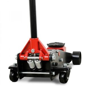 4 Ton Car Floor Jack Twin Piston Wagenhebr With Quicklift Black 4t