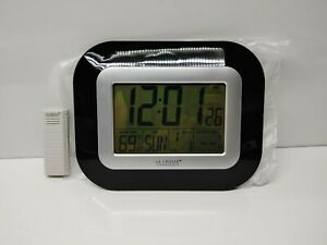 La Crosse Technology WS-8115U-S-INT Atomic Digital Wall Clock with Temp Sensor