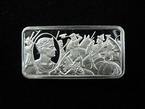 1000 Grains Sterling Silver Ingot Bar 1000 Years of British Monarchy RICHARD I