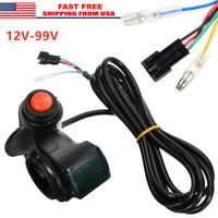 12-99V Twist Throttle Thumb Control Assembly For E-bike Electric Bike Scooter US