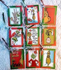 Set of 9 Hang Tags~Christmas Grinch~Gift Tags~Scrapbooking~Card Making~#65R