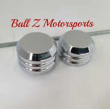 08-09-11-12-15-16-17 Hayabusa Custom Billet Chrome Smooth Front Axle Caps Covers