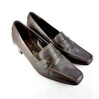 Rohde Leather Comfort Shoes Leather Dark Brown UK Size 7 Width G Low Mid Heel