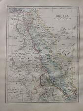1900 VICTORIAN MAP ~ RED SEA SUDAN EGYPT MOUTH OF THE NILE CAIRO SINAI ERITREA