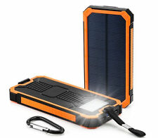 Waterproof 300000mAh Portable Solar Charger Dual USB Battery Power Bank Orange
