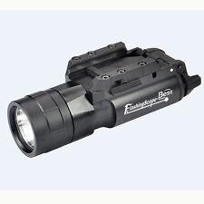 420 Lumen LED Tactical Flashlight with Picatinny Rail Mount for Rifle Pistol Gun