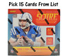 2019 Score Football Base Singles Pick 15 Cards From List Complete Your Set
