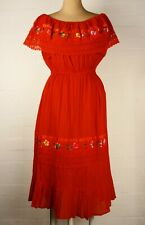 Bespoke Red Flamenco Style Dress Sz 12 - 14