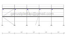Gerüst Typ Layher 100 qm mit Durchstieg Fassadengerüst Stahlböden 3,07 m NEU