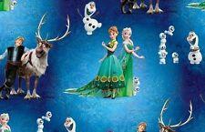 Jersey Stoff Eiskönigin Frozen Elsa Anna blau grün ÖkoTex 100