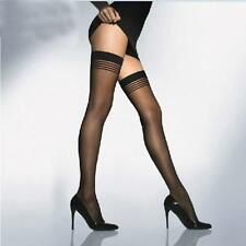 Women Tights Stay-Up Stockings Stripes Pantyhose Thigh-highs