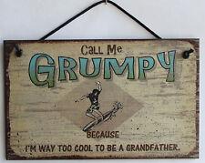 Call Me Grumpy 5x8 Sign Surfer Too Cool Grandfather Grandpa Beach Surfing Ocean