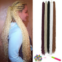 "28"" Thin Wavy Zizi Box Braids Senegalese Twist Crochet Braiding Hair Extensions"