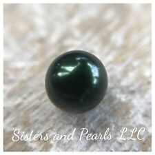 Forest Green Pearl From Akoya Oyster Loose One Pearl USA 6-7mm