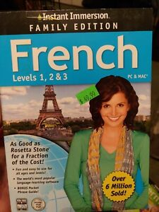 Instant Immersion Family Edition French Levels 1,2 & 3 PC & Mac Foreign Language