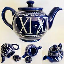 Sought After Collectible Sadler Millennium Cobalt Blue English Ironstone Teapot