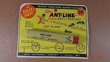 "Asco Pesticide ""Ant-Line"" with Original Tube & Cardboard ""It Kills Ant -Roaches"""