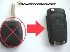 2 Botones Flip Llave Carcasa de actualización para Nissan Almera Primera X-Trail 3.7 cm remoto