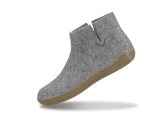 NEW Glerups The Boot with leather sole – Grey