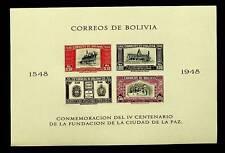 BOLIVIA 1948 400th ANNIV OF FOUNDING OF LA PAZ 4v IMPERF MNH SHEET