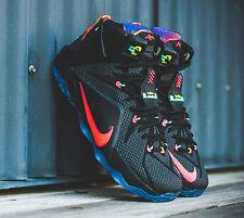 Nike LEBRON JAMES 12 Black Sz 15 DATA CLEVELAND CAVS  8 9 10 Zoom Air Max 1