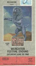 RARE / TICKET CONCERT - THE ROLLING STONES : LIVE A WERCHTER ( BELGIQUE ) 1998