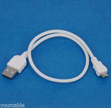 30cm 1ft SHORT USB Cable White 4 LG V10 G4 G3 S G PRO 2 Flex Nexus 5 G2 Optimus