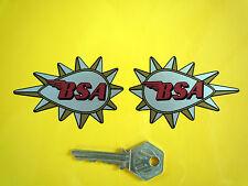 "BSA punte a goccia moto Adesivi 3 ""Pair GOLD STAR ROCKET HORNET VICTOR"