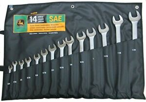 John Deere SAE Combination Wrench Set 14 Pieces - TY19918
