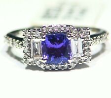 1.58CT 14K Gold Natural Tanzanite Diamond Vintage AAA Art Deco Engagement Ring