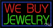 """New """"We Buy Jewelry"""" 32x17 Solid/Animated Led Sign w/Custom Options 21086"""