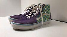 New listing Vans girls boys Tennis Skateboard Shoes Sz 3.5 kids checkered turquoise & purple