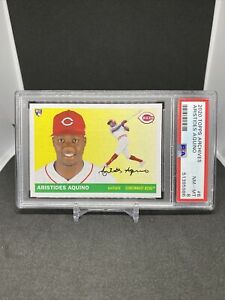 2020 Topps Archives #6 Aristides Aquino RC ROOKIE PSA 8 NM-MT REDS 🔥