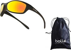 Bolle Spider Flash Mirror Lens Safety Sunglasses, EN166 -1FT Safety Sun Glasses