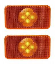 2x LED (4 LEDs) Amber Side Marker Lights Lamps for Volvo FH-FM-FL 24V 8144204