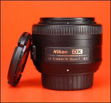 Nikon AF-S 35mm F1.8 G DX messa a fuoco automatica Nikkor Lens-con anteriore e posteriore dell'obiettivo CAPS