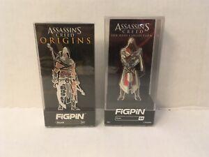 FiGPiN Assassin's Creed Enamel Pin Bayek #62 & Ezio #64 Ubisoft
