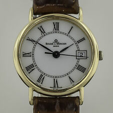 Baume & Mercier, Ladies, 18K Yellow Gold, 16773, Leather Band