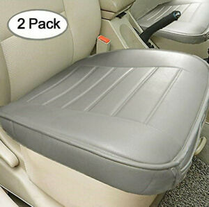 2 Pcs Durable Car Front Seat Cover Anti-slip Four Seasons Pads with Small Pocket
