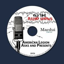 American Legion Asks and Presents Old Time Radio Shows 5 OTR MP3 Files on 1 DVD