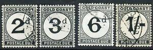 GOLD COAST-1951-52 A fine used Postage Due Set Sg D5-D8