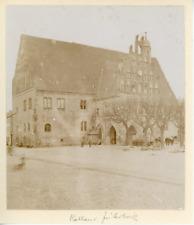 Allemagne, rathaus, monument, place, bâtiment à identifier  Vintage albumen prin