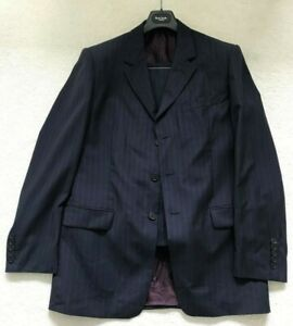 Paul Smith London Blue  3 button Single Breasted Suit with Burgundy stripe