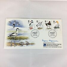Signed Magnus Magnusson First Day Cover RSPB 21.5cm X 11.5cm