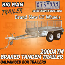 10X6 REGO INCLUDED TANDEM TRAILER HEAVY DUTY CAGE CHECKER PLATE 2000KG