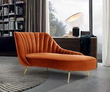 Velvet Chaise Accent Lounge