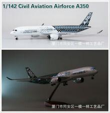 Aircraft Airplane LED Light 1/142 A350 Civil Aviation Carbon Fiber Painting 47cm