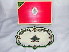 SPODE Christmas Tree Garland Candy Dish in Original Box