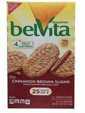 Belvita Cinnamon Brown Sugar Breakfast Biscuits 25 Packs of 4 Cookies 2lb 12oz